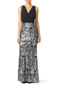 laundry by shelli segal silver gown by laundry by shelli segal for 60 70 rent