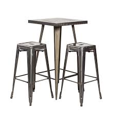 silver metal bar table rustic wood top metal bar table stuart event rentals with idea 14