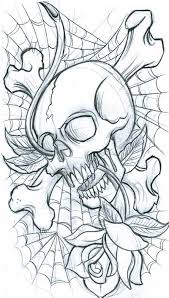 spider web skull and rose tattoo sketch photo 3 2017 real photo