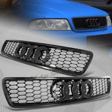 audi rs4 grill for audi a4 s4 b5 black abs sport mesh s line rs4 style front