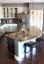 kitchen with an island home improvement design and decoration