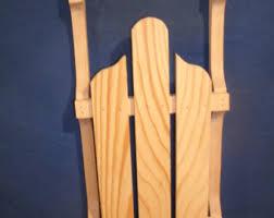 wooden sled etsy