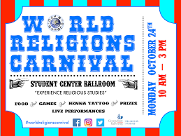 Gsu Campus Map World Religions Carnival Day Religious Studies