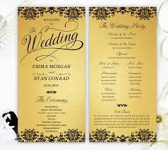 cardstock for wedding programs wedding programs printed on gold metallic cardstock