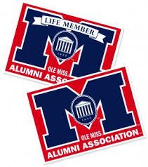 ole miss alumni sticker car decal
