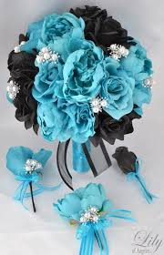 turquoise corsage 17 package wedding bridal of honor bridesmaid