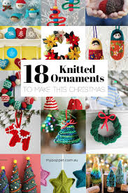 18 knitted ornaments to make this my poppet makes