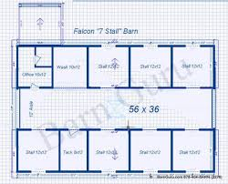 Barn Designs For Horses 7 Stall Horse Barn Plans