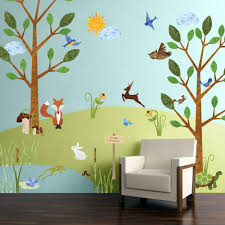 forest multi peel and stick removable wall decals woodland