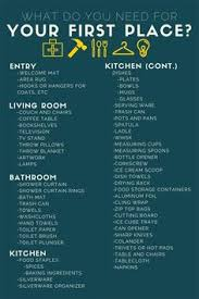 what do you actually need for your apartment things to