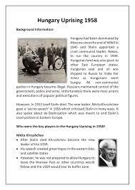 hungary uprising 1958 facts u0026 worksheet gcse lesson guide