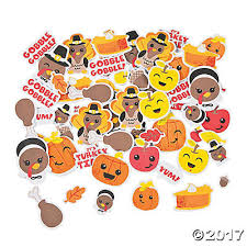 thanksgiving self adhesive shapes