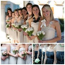 bridesmaid statement necklaces mismatched bridesmaid accessories 3 jewellery hairpieces