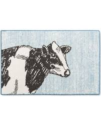 Threshold Kitchen Rug Amazing Deal On Cow Kitchen Rug Blue Threshold