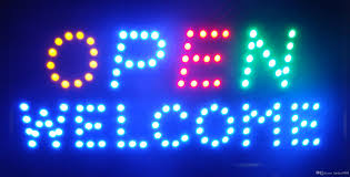 2018 welcome open led light animated neon sign size 10 19 inch
