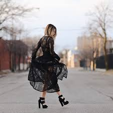 nasty gal one and only lace maxi dress black
