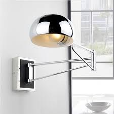 wall sconce reading light chrome wall sconce bedside wall fixtures lighting for bedroom modern