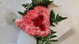 fresh flowers heart carnations and roses fresh flowers