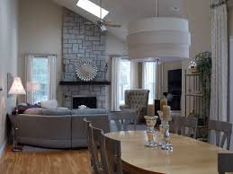 contemporary great room with ceiling fan by cheryl mccracken