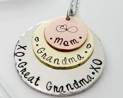 great grandmother necklace generation necklace etsy