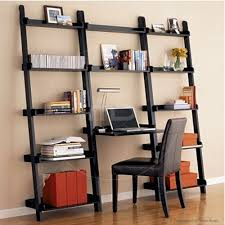 Leaning Bookshelf With Desk 19 Extraordinary Ladder Bookcase Snapshot Ideas Room Interior With