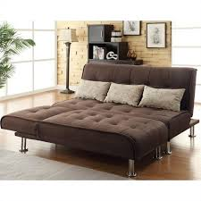 sectional pull out sofa coaster transitional styled sleeper sofa and chaise in brown