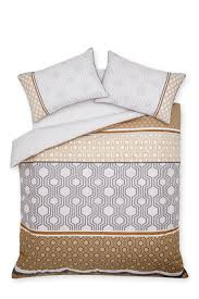 Next Bed Sets Buy Cotton Rich Luxe Geo Stripe Bed Set From The Next Uk