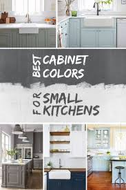 what color should cabinets be in a small kitchen best kitchen cabinet colors for small kitchens with pictures