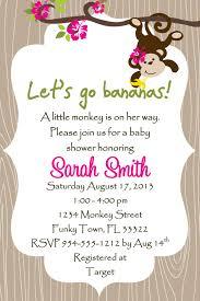 monkey themed baby shower ideas monkey baby shower invitation template or boy monkey baby