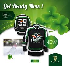 guinness st patrick u0027s day hockey jersey