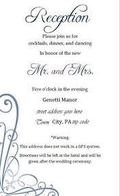 wedding invitation reception card wording vertabox