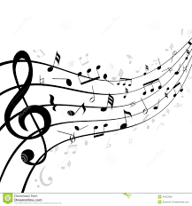 music notes on a stave or staff stock vector image 40422800