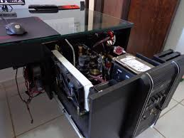 Gaming Pc Desk by Casemod Gabinete Mesa Novos Detales Custom Gaming Pc Desk Mod