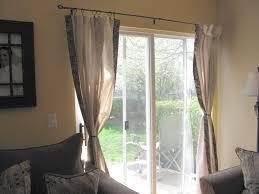 Sliding Door Window Treatment Ideas Sliding Door Curtain Rod Business For Curtains Decoration