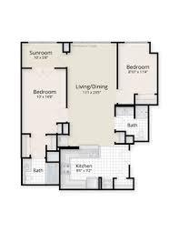 sunroom floor plans end residences apartments 1221 24th nw washington