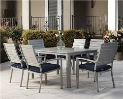 Dining Chairs With Cushions Cosco Outdoor Products Cosco Outdoor Living 7 Piece Blue Veil