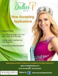 Seeking Dallas Earth Dallas Pageant Seeks Contestants