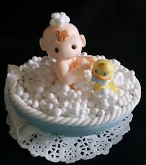 duck cake baby on bathtub cake topper baby shower cake topper baby with