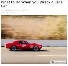 69 camaro rod rod magazine writeup on 69 camaro crash and future plans