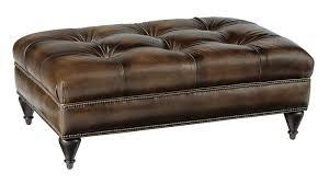 tufted leather chair and ottoman rectangular ottoman bernhardt