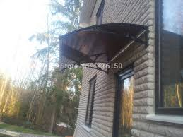 How To Build Window Awnings Ds60100 P Plastic Bracket Diy Window Awning With Uv Coated