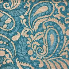 designer fabric sydney modern paisley pattern chenille upholstery fabric by the yard