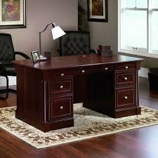 Office Desk Amazon Com Sauder Palladia Executive Desk Cherry Kitchen U0026 Dining