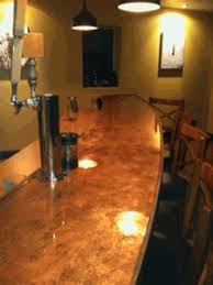 bar top sealant diy copper bartops countertops tabletops tutorial