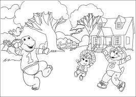 free barney coloring pages print kids 43781