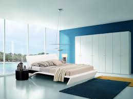 surprising relaxing colors for bedrooms with blue paint wall and