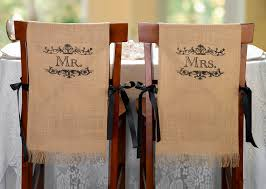 Paper Chair Covers Personalized Burlap Chair Covers