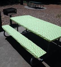 fitted picnic table covers custom fitted picnic or cing tablecloth bench set stay put