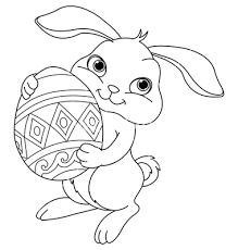 simple easter coloring pages simple easter bunny coloring pages google search lindsay anne