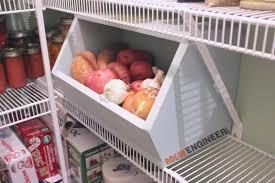 vegetable storage kitchen cabinets root vegetable storage bin free diy plans rogue engineer